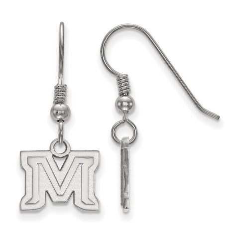 Sterling Silver LogoArt Montana State University XS Dangle Earrings