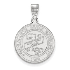 Sterling Silver LogoArt Appalachian State University Large Crest