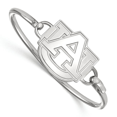 Sterling Silver LogoArt Auburn University Bangle