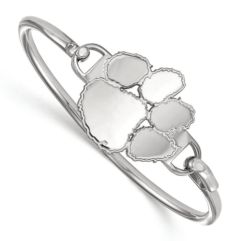 Sterling Silver LogoArt Clemson University Bangle