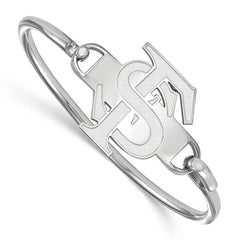 Sterling Silver LogoArt Florida State University Bangle