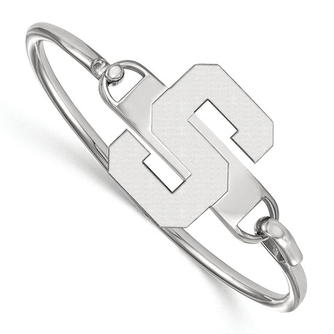 Sterling Silver LogoArt Michigan State University Bangle