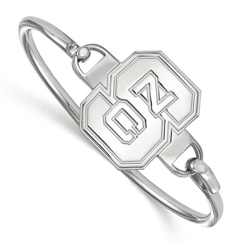 Sterling Silver LogoArt North Carolina State University Bangle