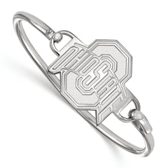 Sterling Silver LogoArt Ohio State University Bangle