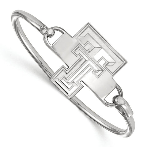 Sterling Silver LogoArt Texas Tech University Bangle