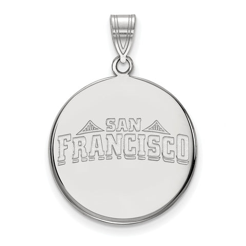 14kw LogoArt University of San Francisco Large Disc Pendant