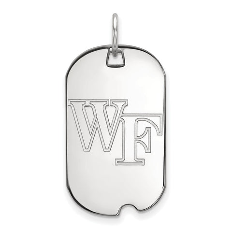10kw LogoArt Wake Forest University Small Dog Tag