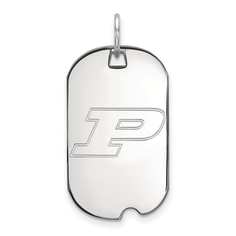 Sterling Silver LogoArt Purdue University Small Dog Tag