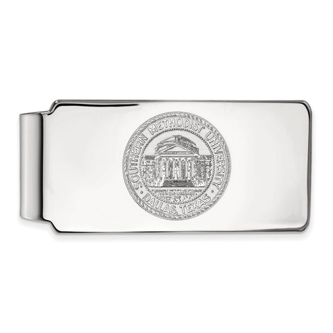 10kw LogoArt Southern Methodist University Money Clip Crest