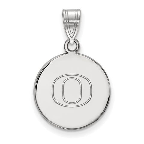 14kw LogoArt University of Oregon Medium Disc Pendant