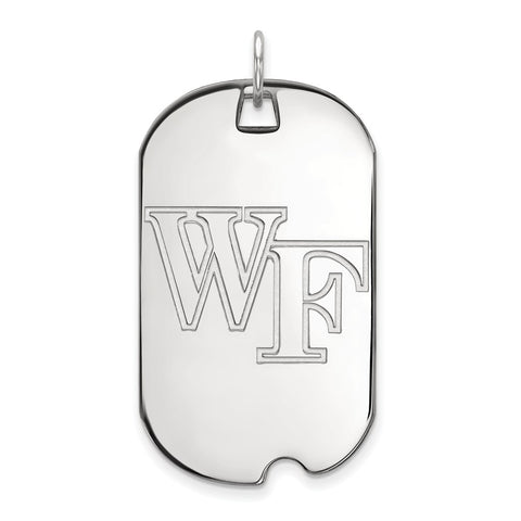 10kw LogoArt Wake Forest University Large Dog Tag