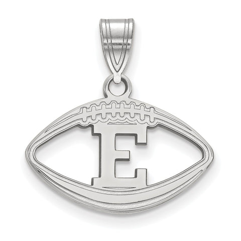 Sterling Silver LogoArt Eastern Michigan University Football Pendant
