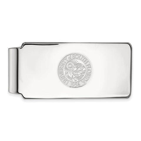 Sterling Silver LogoArt University of South Florida Money Clip Crest