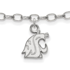Sterling Silver LogoArt Washington State Anklet