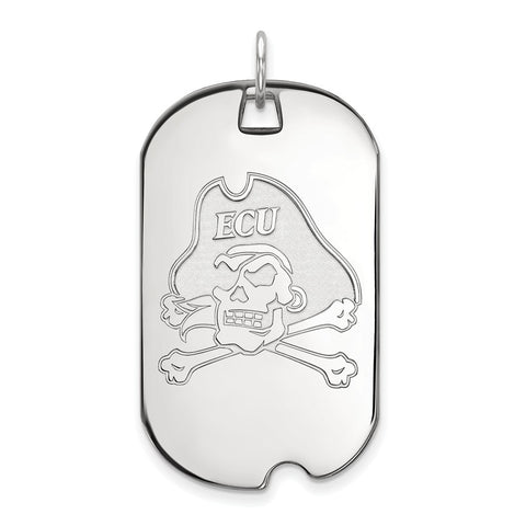 10kw LogoArt East Carolina University Large Dog Tag
