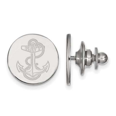 14kw LogoArt United States Naval Academy Lapel Pin