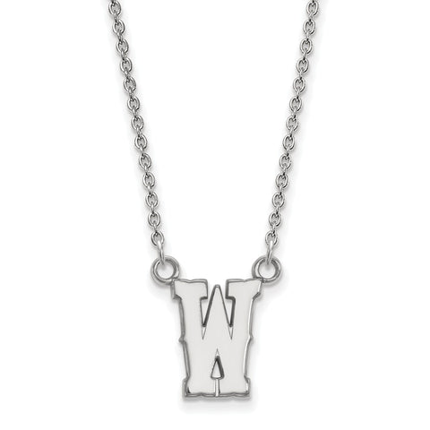 10kw LogoArt The University of Wyoming Small Pendant w/Necklace