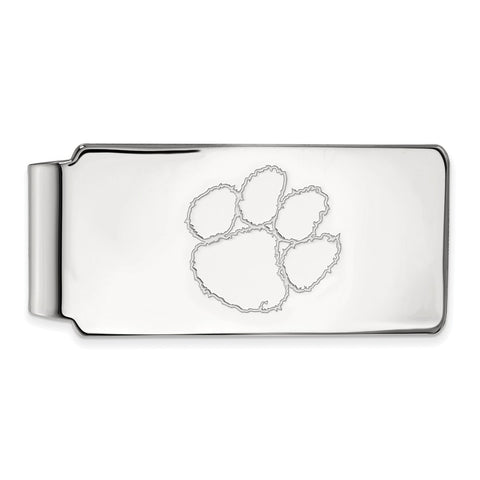 Sterling Silver LogoArt Clemson University Money Clip