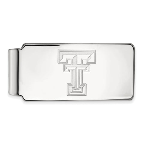 10k White Gold Logoart Texas Tech University Red Raiders Money Clip