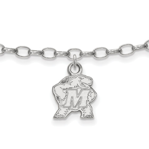 Sterling Silver LogoArt University of Maryland Anklet