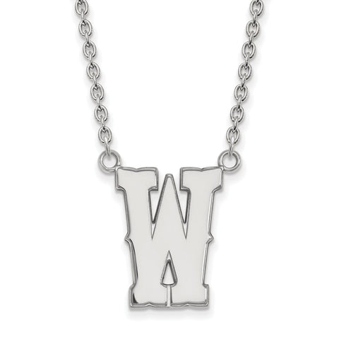 14kw LogoArt The University of Wyoming Large Pendant w/Necklace