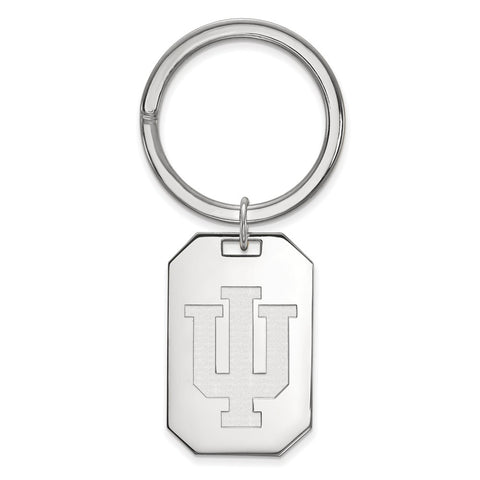Sterling Silver LogoArt Indiana University Key Chain