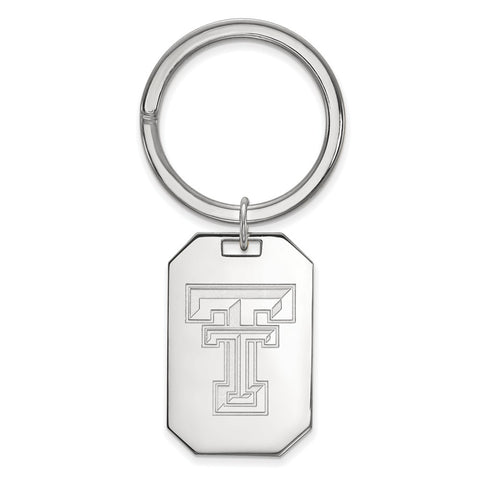 Sterling Silver LogoArt Texas Tech University Key Chain