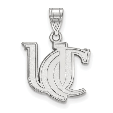 Sterling Silver LogoArt University of Cincinnati Medium Pendant