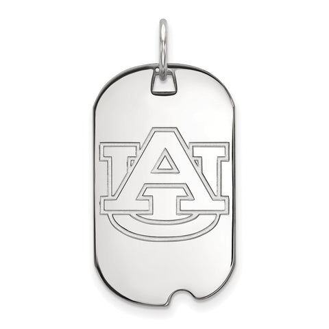 10k White Gold Logoart Auburn University Tigers Small Dog Tag