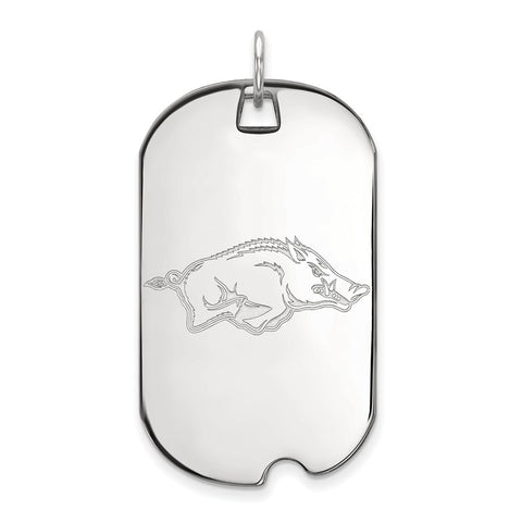 14kw LogoArt University of Arkansas Large Dog Tag