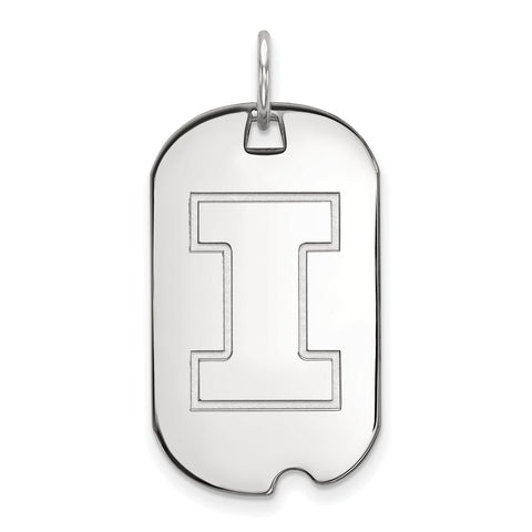 14kw LogoArt University of Illinois Small Dog Tag