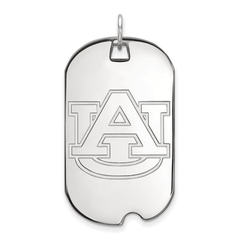 10k White Gold Logoart Auburn University Tigers Large Dog Tag