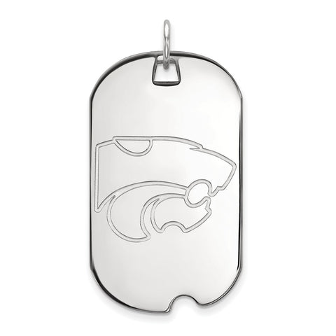 Sterling Silver LogoArt Kansas State University Large Dog Tag