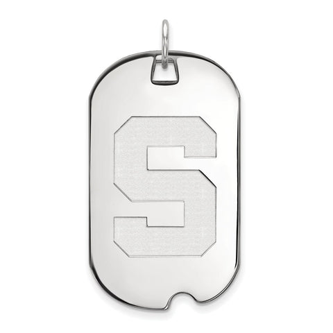 10kw LogoArt Michigan State University Large Dog Tag