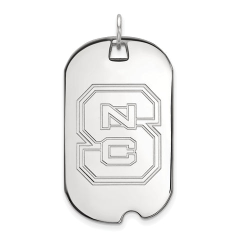 14kw LogoArt North Carolina State University Large Dog Tag