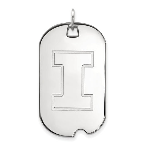 14kw LogoArt University of Illinois Large Dog Tag
