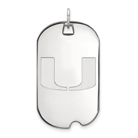 14kw LogoArt University of Miami Large Dog Tag