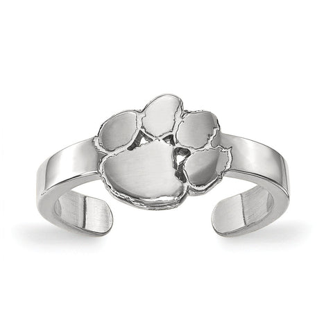 Sterling Silver LogoArt Clemson University Toe Ring