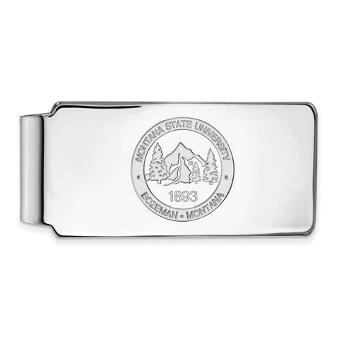 Sterling Silver LogoArt Montana State University Money Clip Crest