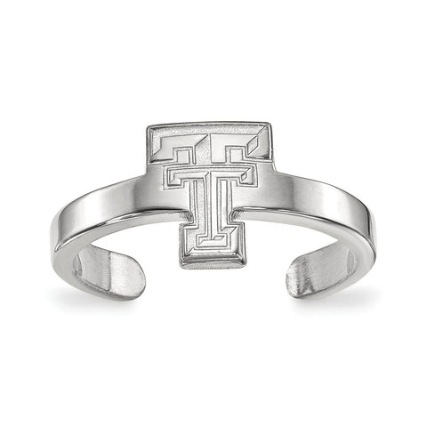 Sterling Silver LogoArt Texas Tech University Toe Ring