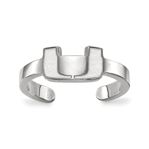 Sterling Silver LogoArt University of Miami Toe Ring