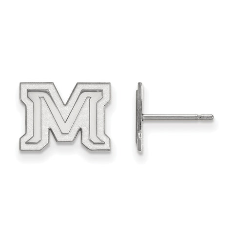 Sterling Silver LogoArt Montana State University XS Post Earrings