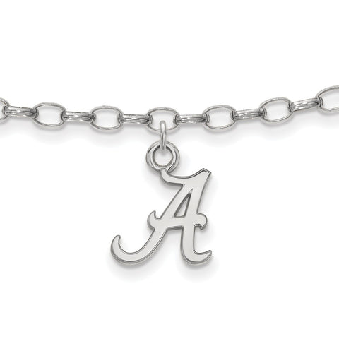 Sterling Silver LogoArt University of Alabama Anklet