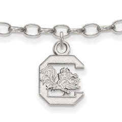 Sterling Silver LogoArt University of South Carolina Anklet