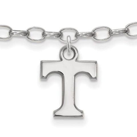 Sterling Silver LogoArt University of Tennessee Anklet