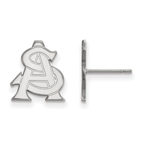 Sterling Silver LogoArt Arizona State University Small Post Earrings