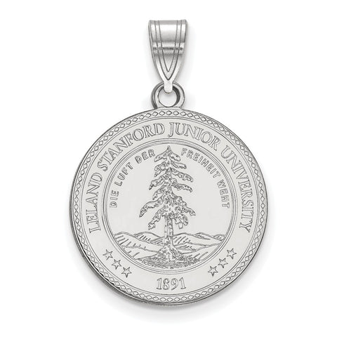Sterling Silver LogoArt Stanford University Large Crest