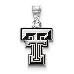 Sterling Silver LogoArt Texas Tech University Small Enamel Pendant