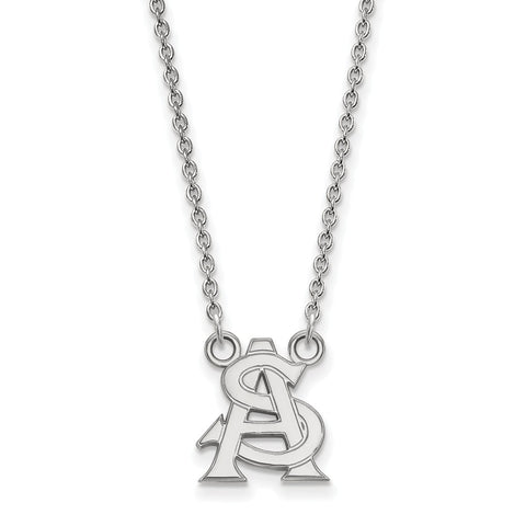 Sterling Silver LogoArt Arizona State University Small Pendant w/Necklace