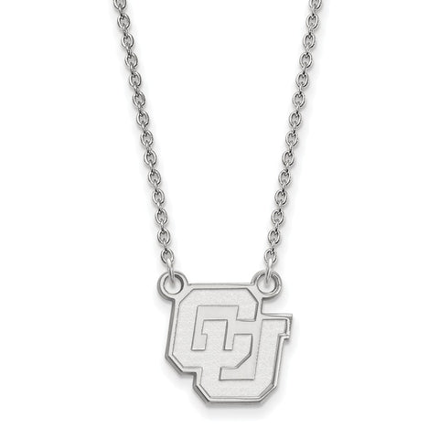 14kw LogoArt University of Colorado Small Pendant w/Necklace
